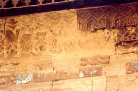 Deteriorated stalactites rows & missing turkish ceramic tiles.